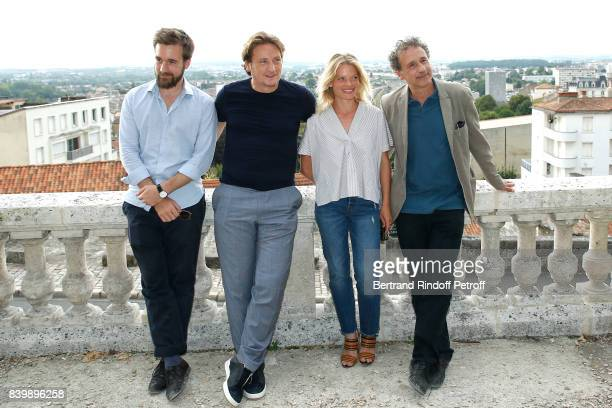 Team of the movie 'La douleur' actors Gregoire LeprinceRinguet Benoit Magimel Melanie Thierry and director Emmanuel Finkiel attend the 10th Angouleme...