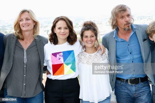 Team of the movie 'Le rire de ma mere' codirector Colombe Savignac actors Suzanne Clement Salome Larouquie and Pascal Demolon attend the 10th...