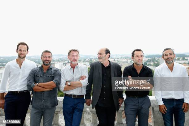 Team of the movie 'Le sens de la fete' actor Benjamin Laverhne codirector Olivier Nakache actors JeanPaul Rouve JeanPierre Bacri Gilles Lellouche and...