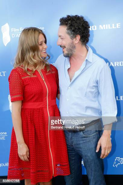Team of the movie 'Maryline' director Guillaume Gallienne and actress Adeline d'Hermy attend the 10th Angouleme FrenchSpeaking Film Festival Day...
