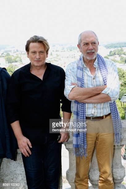 Team of the movie 'Money' actors Benoit Magimel and Feodor Atkine attend the 10th Angouleme FrenchSpeaking Film Festival Day Four on August 25 2017...