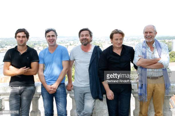 Team of the movie 'Money' actors George Babluani director Gela Babluani actors LouisDo de Lencquesaing Benoit Magimel and Feodor Atkine attend the...