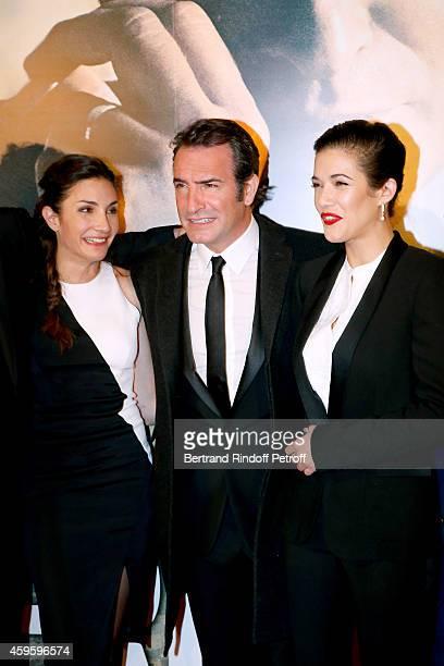 Team of the movie Scenarist Audrey Diwan actors Jean Dujardin and Melanie Doutey attend the 'La French' Paris Premiere Held at Cinema Gaumont...