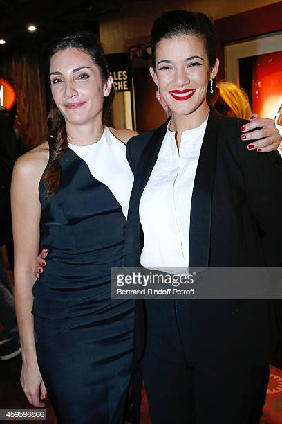 Team of the movie Scenarist Audrey Diwan and actress Melanie Doutey attend the 'La French' Paris Premiere Held at Cinema Gaumont Capucine on November...