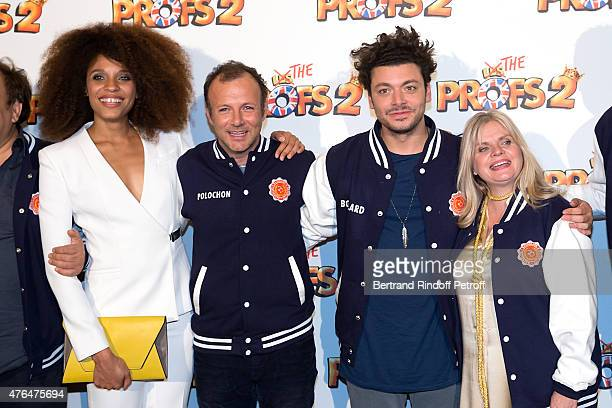 Team of the Movie Stefi Celma Director PierreFrancois MartinLaval Kev Adams and Isabelle Nanty attend 'Les Profs 2' Paris Premiere at Le Grand Rex on...