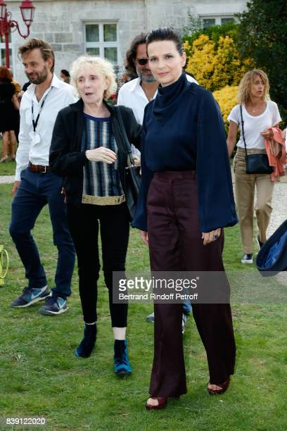 Team of the movie 'Un beau soleil interieur' director Claire Denis and actress Juliette Binoche attend the 10th Angouleme FrenchSpeaking Film...