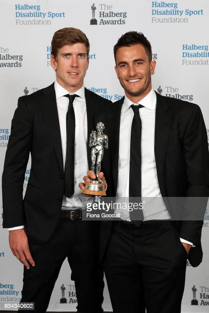 Team of the Year Olympic sailors Blair Tuke and Peter Burling at the 54th Halberg Awards at Vector Arena on February 9 2017 in Auckland New Zealand