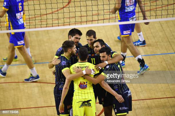 Team of Toulouse during the Volleyball friendly match on September 22 2017 in Montpellier France