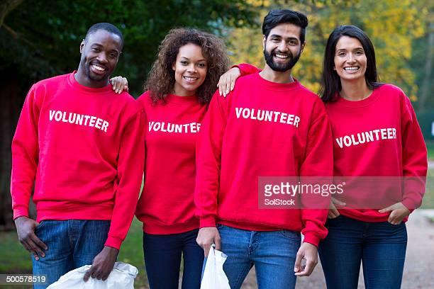 Une équipe de volontaires