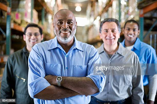 Team of Workers in Warehouse