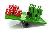Team outweighs cubes with questions in the design of information related to solving the problems