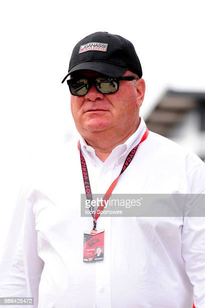 Team owner Chip Ganassi walks down pit road during qualifying for the Indianapolis 500 on May 20 at the Indianapolis Motor Speedway in Indianapolis...