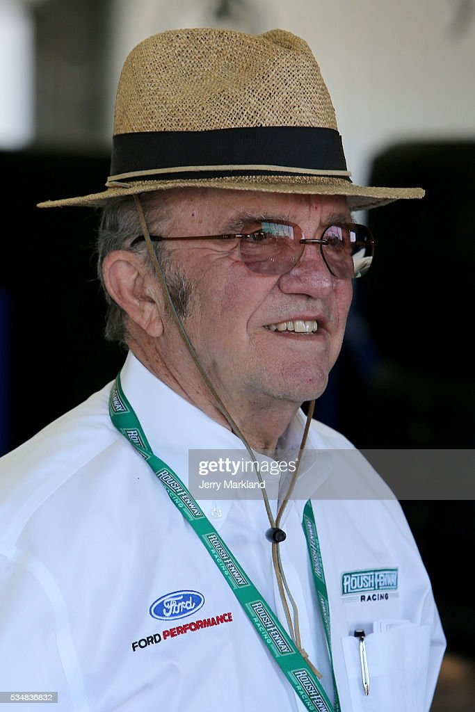 Team owner <a gi-track='captionPersonalityLinkClicked' href=/galleries/search?phrase=Jack+Roush&family=editorial&specificpeople=260209 ng-click='$event.stopPropagation()'>Jack Roush</a> looks on during practice for the NASCAR Sprint Cup Series Coca-Cola 600 at Charlotte Motor Speedway on May 28, 2016 in Charlotte, North Carolina.