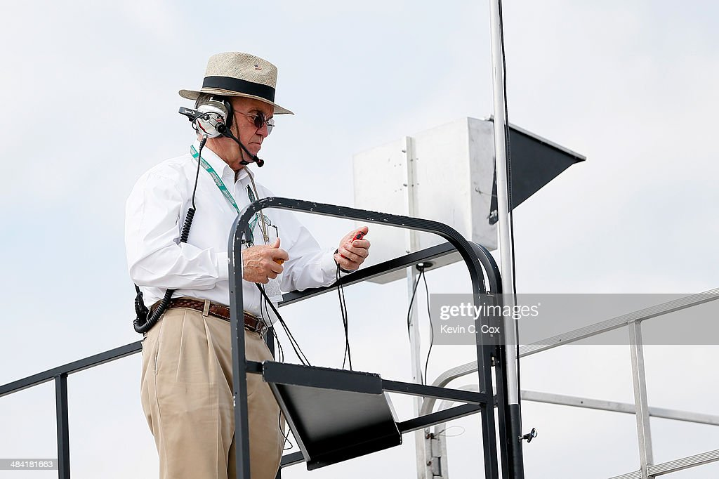Team owner <a gi-track='captionPersonalityLinkClicked' href=/galleries/search?phrase=Jack+Roush&family=editorial&specificpeople=260209 ng-click='$event.stopPropagation()'>Jack Roush</a> looks on during qualifying for the NASCAR Nationwide Series VFW Sport Clips Help A Hero 200 at Darlington Raceway on April 11, 2014 in Darlington, South Carolina.
