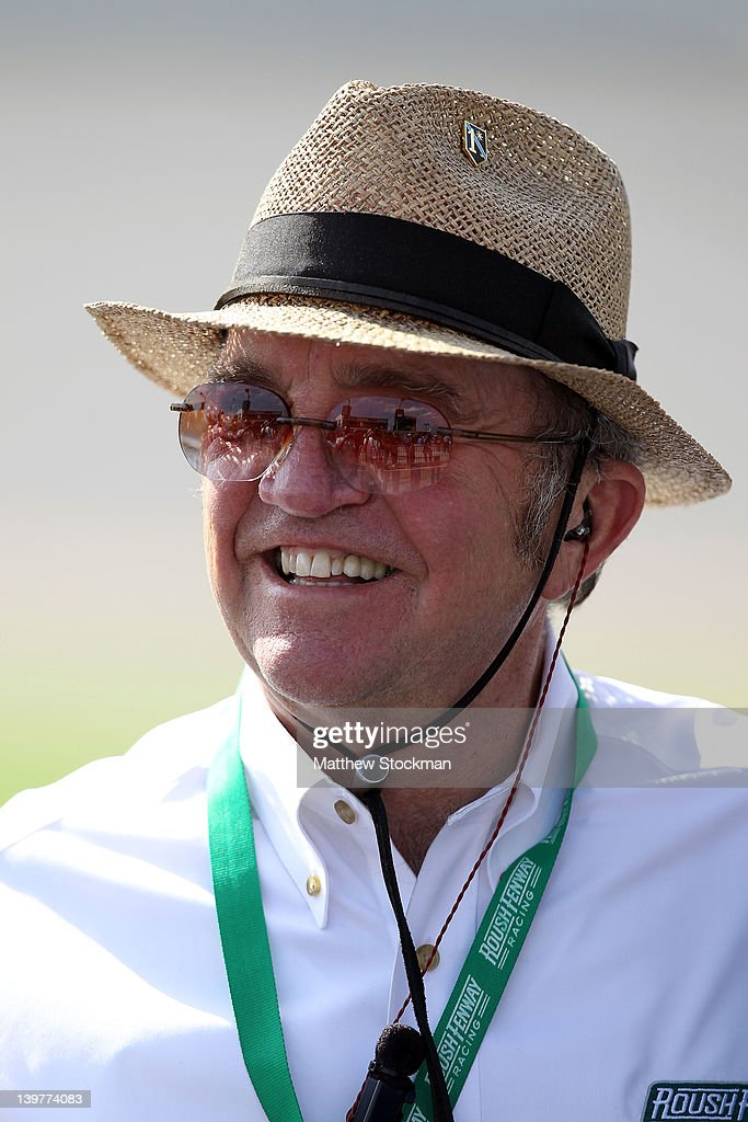 Team owner <a gi-track='captionPersonalityLinkClicked' href=/galleries/search?phrase=Jack+Roush&family=editorial&specificpeople=260209 ng-click='$event.stopPropagation()'>Jack Roush</a> stands on the grid during qualifying for the NASCAR Nationwide Series DRIVE4COPD 300 at Daytona International Speedway on February 24, 2012 in Daytona Beach, Florida.