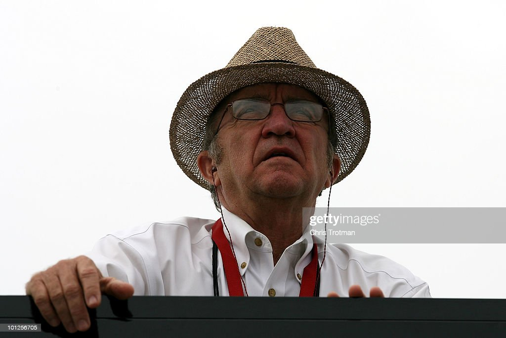 Team owner <a gi-track='captionPersonalityLinkClicked' href=/galleries/search?phrase=Jack+Roush&family=editorial&specificpeople=260209 ng-click='$event.stopPropagation()'>Jack Roush</a> watches practice for the NASCAR Sprint Cup Series Coca-Cola 600 at Charlotte Motor Speedway on May 29, 2010 in Concord, North Carolina.
