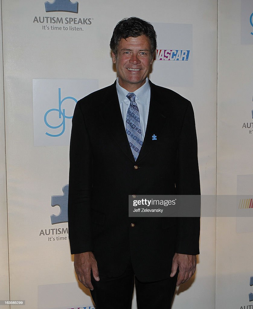 NASCAR team owner Michael Waltrip arrives at 'Speeding For A Cure', a gala to benefit Autism Speaks held at the Metropolitan Museum of Art on March 12, 2013 in New York City.