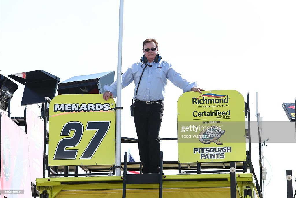 Team owner Richard Childress stands in the garage area during practice for the NASCAR Sprint Cup Series Ford EcoBoost 400 at HomesteadMiami Speedway...