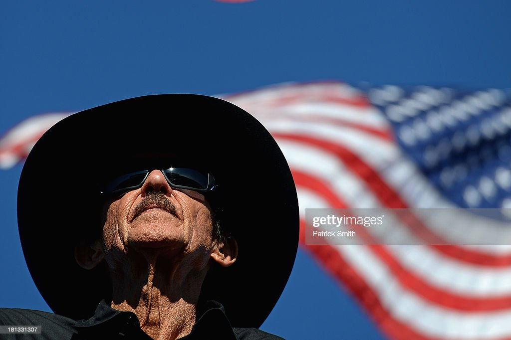 Team owner <a gi-track='captionPersonalityLinkClicked' href=/galleries/search?phrase=Richard+Petty&family=editorial&specificpeople=208957 ng-click='$event.stopPropagation()'>Richard Petty</a> watches qualifying for the NASCAR Sprint Cup Series Sylvania 300 at New Hampshire Motor Speedway on September 20, 2013 in Loudon, New Hampshire.
