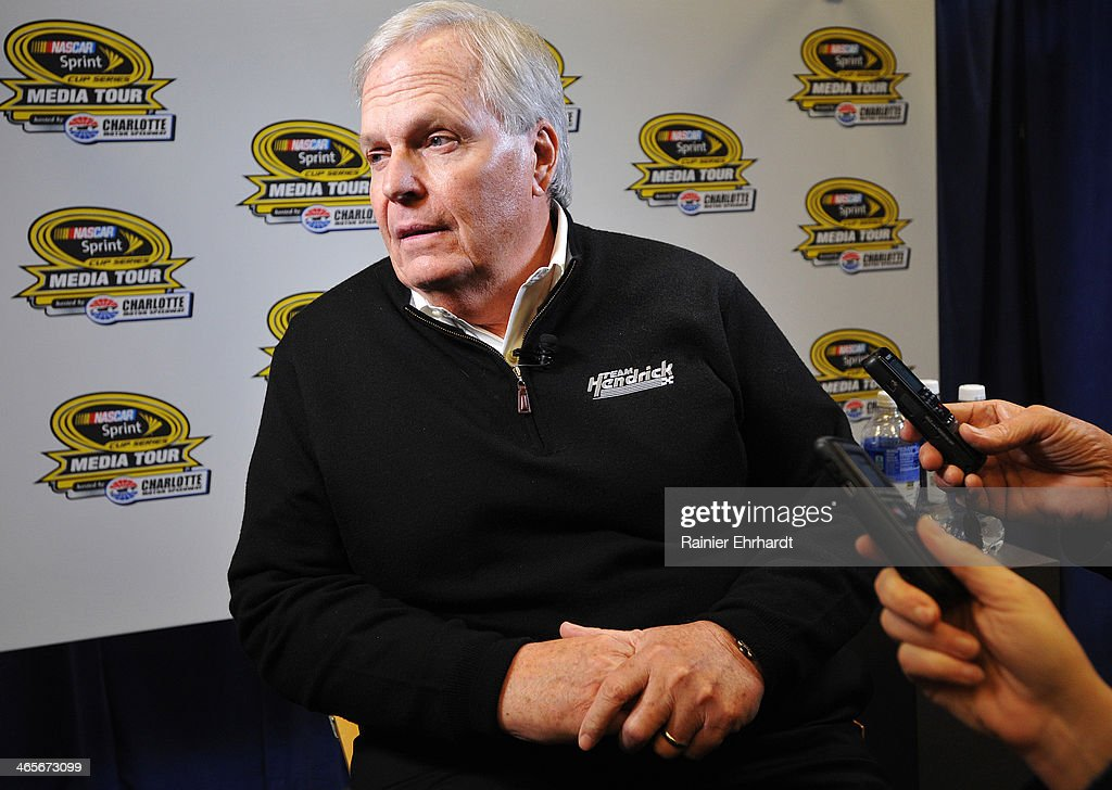 Team owner Rick Hendrick speaks to the media during the NASCAR Sprint Media Tour at Charlotte Convention Center on January 28, 2014 in Charlotte, North Carolina.