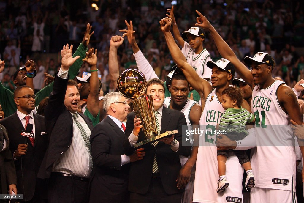 Team owner Wyc Grousbeck of the Boston Celtics celebrates after defeating the Los Angeles Lakers in Game Six of the 2008 NBA Finals on June 17 2008...