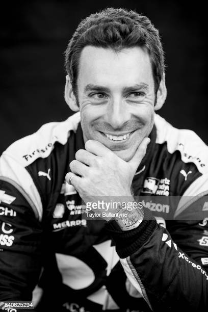 Team Penske driver Simon Pagenaud is photographed for Sports Illustrated on August 19 2017 at Pocono Raceway Verizon IndyCar Series at Long Pond...