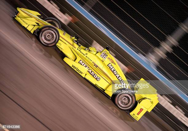 Team Penske driver Simon Pagenaud of France qualified fifth for the Verizon IndyCar Desert Diamond West Valley Phoenix Grand Prix on April 28 at...