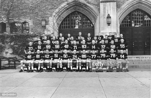 Team photo of 1958 Army Cadets football team at the United States Military Academy West Point New York September 1958 Among those pictured are Pete...