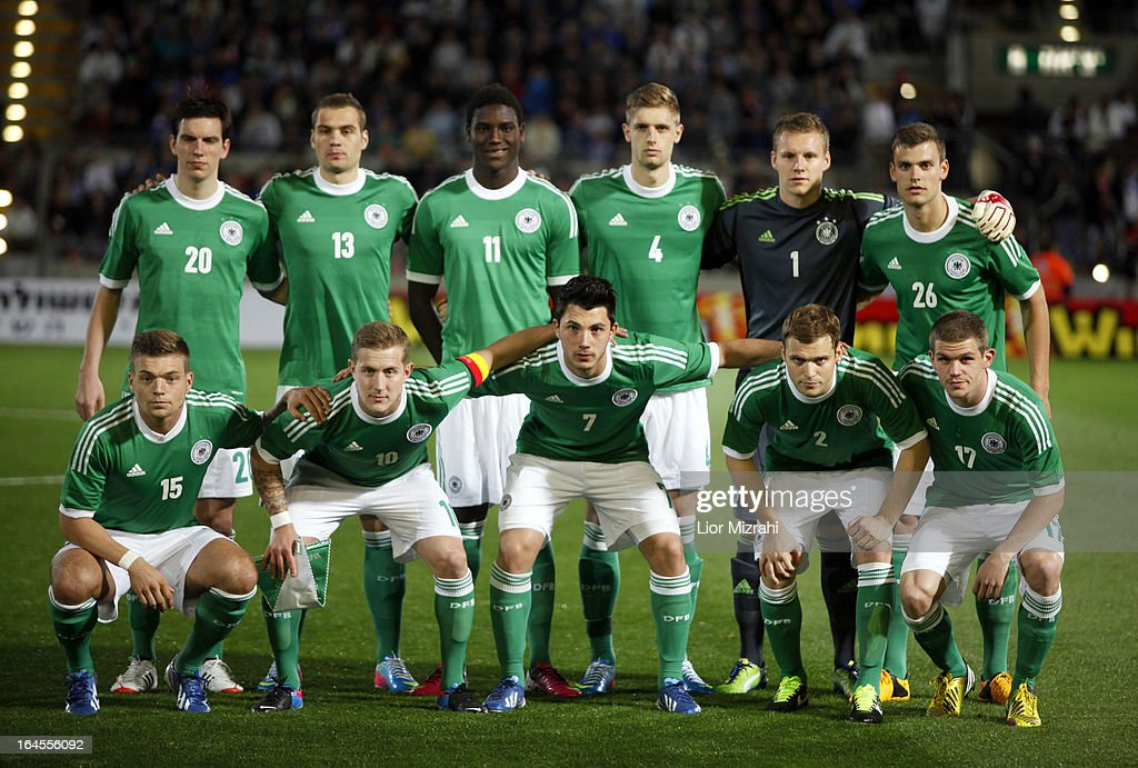 Team photo of Germany before the Under 21 International Friendly match between Israel and Germany on March 24, 2013 in Tel Aviv , Israel.