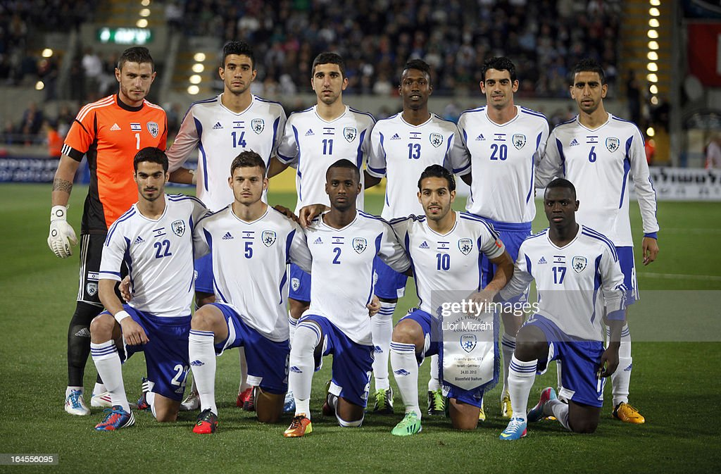 Team photo of Israel before the Under 21 International Friendly match between Israel and Germany on March 24, 2013 in Tel Aviv , Israel.