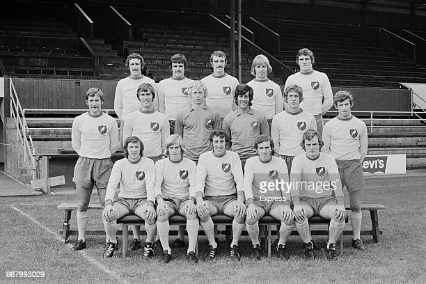 A team photo of Norwich City FC UK 24th August 1971 From left to right Geoff Butler Max Briggs Terry Anderson Trevor Howard Alan Black Dave Stringer...