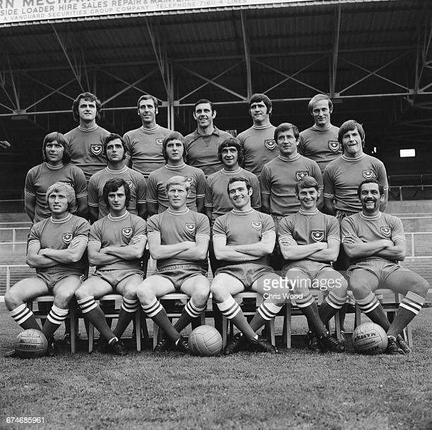 A team photo of Portsmouth FC UK 30th August 1971 From left to right Colin Blant Ray Hiron John Milkins Eoin Hand Richie Reynolds David Munks Brian...