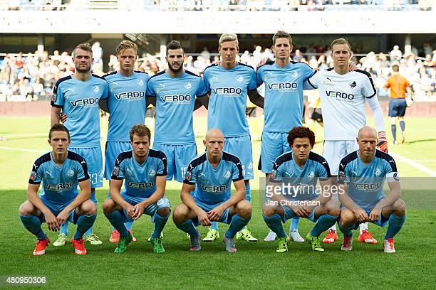 Team photo of Randers FC prior to the UEFA Europa League Qual 2 Round 1 Leg between Randers FC and IF Elfsborg at AutoC Park Randers on July 16 2015...