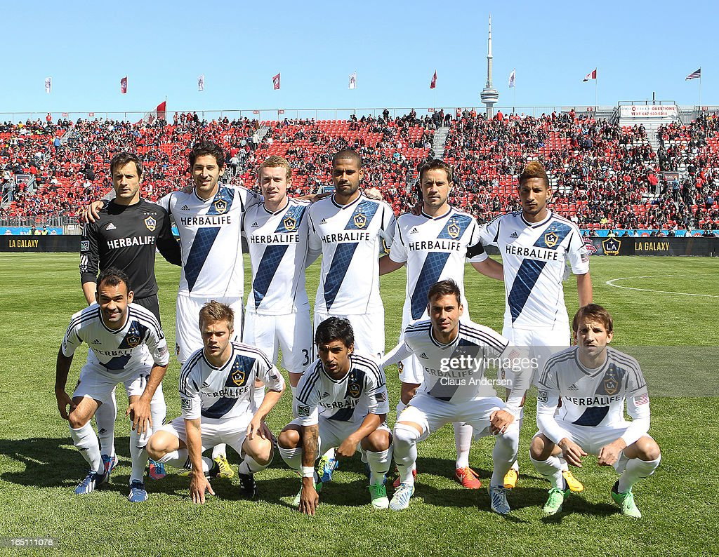 A team photo of the Los Angeles Galaxy prior to an MLS game against the Toronto FC on March 30, 2013 at BMO Field in Toronto, Ontario, Canada.