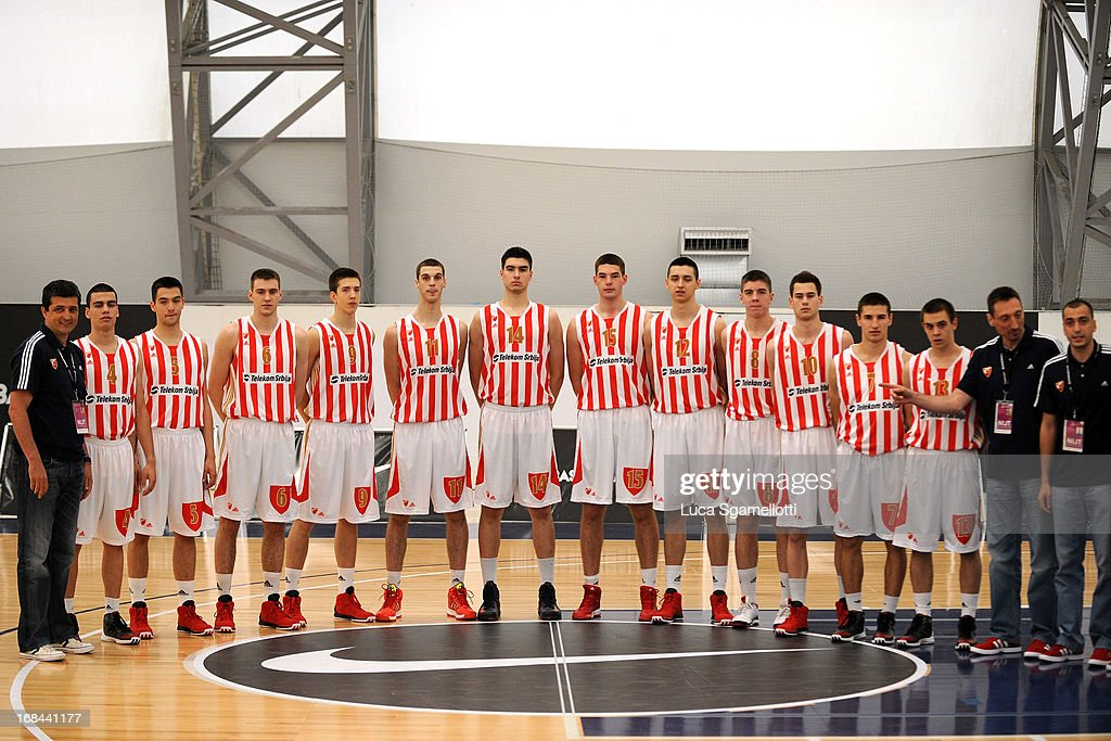 Team picture of Crvena Zvezda Telekom Belgrade during Nike International Junior Tournament game between Team China Vs Crvena Zvezda Telekom Belgrade at Soccerdome on May 9, 2013 in London, United Kingdom.
