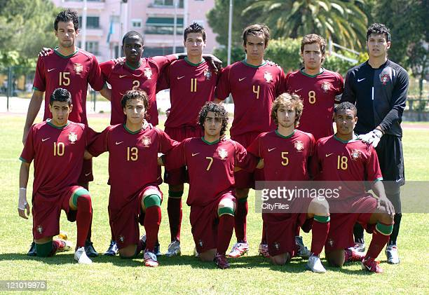 Team Portugal during the Portugal vs United States game of the 13th Lisbon International U18 Tournament in Lisbon Portugal on June 2 2007