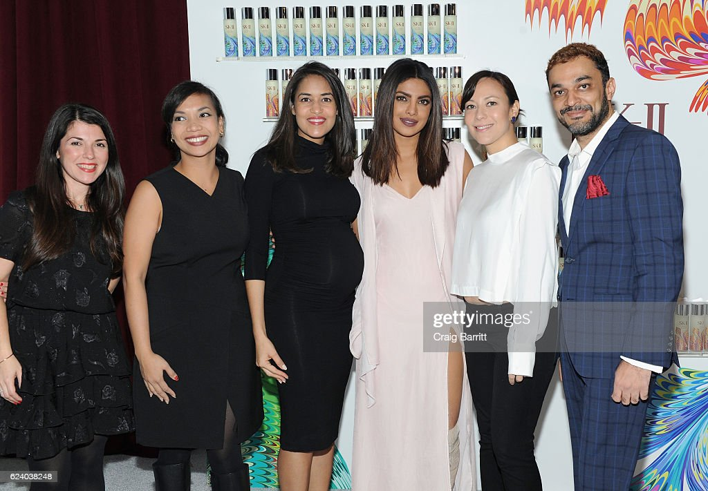 Team pose with honoree Priyanka Chopra during the SK-II #ChangeDestiny Holiday Essence Launch Party on November 17, 2016 in New York City.