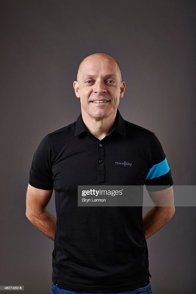 Team Principal Sir <a gi-track='captionPersonalityLinkClicked' href=/galleries/search?phrase=Dave+Brailsford&family=editorial&specificpeople=3000000 ng-click='$event.stopPropagation()'>Dave Brailsford</a> poses during a Team SKY portrait session on October 21 in Weymouth, England.