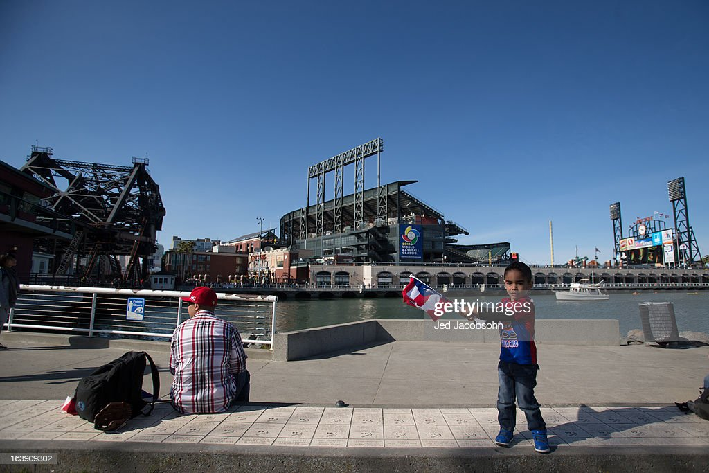 A Team Puerto Rico fan is seen outside of AT&T Park before the semi-final game between Team Puerto Rico and Team Japan in the championship round of the 2013 World Baseball Classic on Sunday, March 17, 2013 in San Francisco, California.