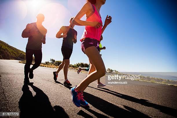 Team running workout
