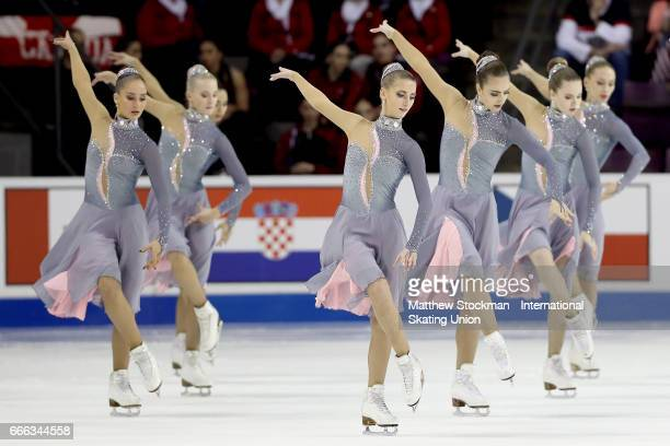 Team Russia Paradise competes in the free skate during the ISU Wolrd Figure Skating Championships on April 8 2017 in Colorado Springs Colorado