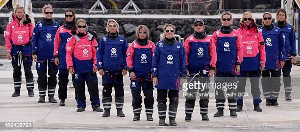 Team SCA Sailing Team Sophie Ciszek Elodie Mettraux Sara Hastreiter Sally Barkow Abby Ehler GBR Liz Wardley Sam Davies GBR Stacey Jackson Carolijn...