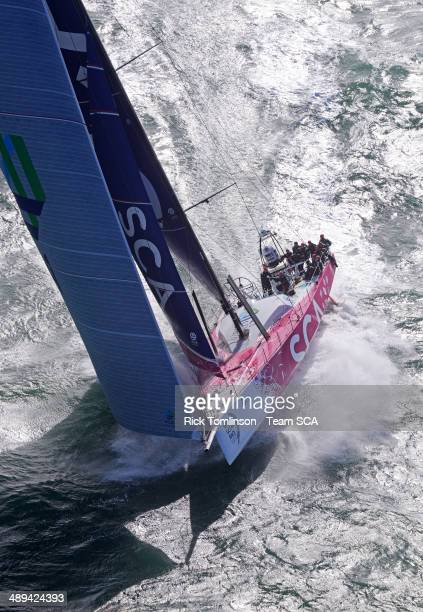 Team SCA sailing trials in the English Channel prior to the Volvo Ocean Race 201415 on October 4 in The English Channel The Volvo Ocean Race 2014...