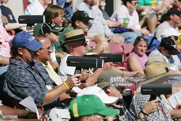 MLB team scouts keep their radar guns trained on the pitchers as the Tampa Bay Devil Rays go on to defeat the Pittsburgh Pirates 53 in an MLB Spring...