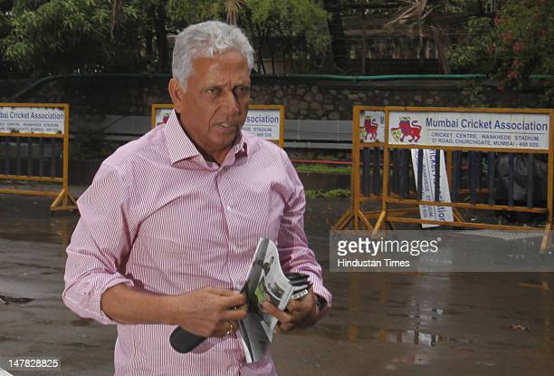 BCCI team Selection Committee member Mohinder Amarnath arrives at BCCI headquarters for selection of Indian team for Sri Lanka tour on July 4 2012 in...