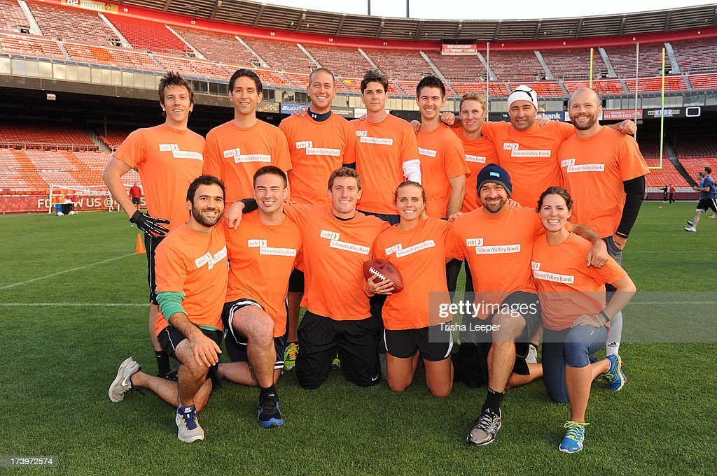 Team Silicon Valley Bank attends Founder Institute's Tech Carnival 2013 at Candlestick Park on July 17, 2013 in San Francisco, California.