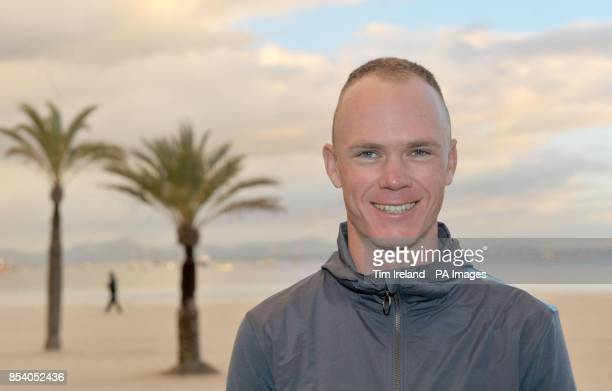 Team Sky riders Chris Froome during the Team Sky Media Day in Alcudia Majorca