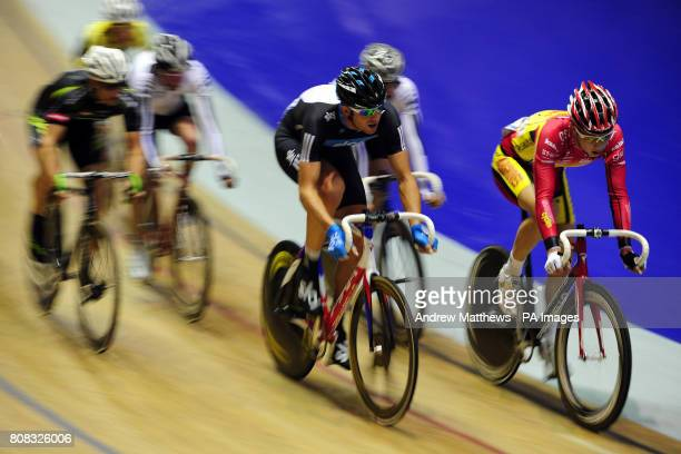 Team Sky Track Cycling's Ian Stannard during the first heat of the Men's 40km Points Race Championship the Newmark Avia Trophy during day three of...