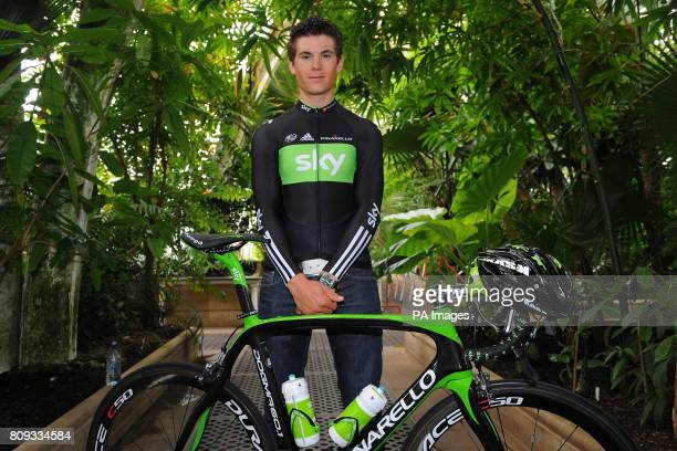 Team Sky's Ben Swift during the Team Sky photocall for the British riders selected for the Tour de France at Kew Royal Botanic Gardens in London