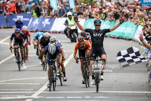 Team Sky's Ian Stannard wins stage 4 at Kinglake as part of the 2017 Jayco Herald Sun Tour on February 05 2017 in Melbourne Australia Chris Putnam /...